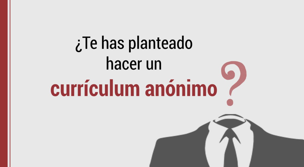 como hacer un curriculum anonimo