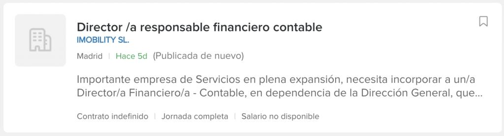 ofertas director financiero