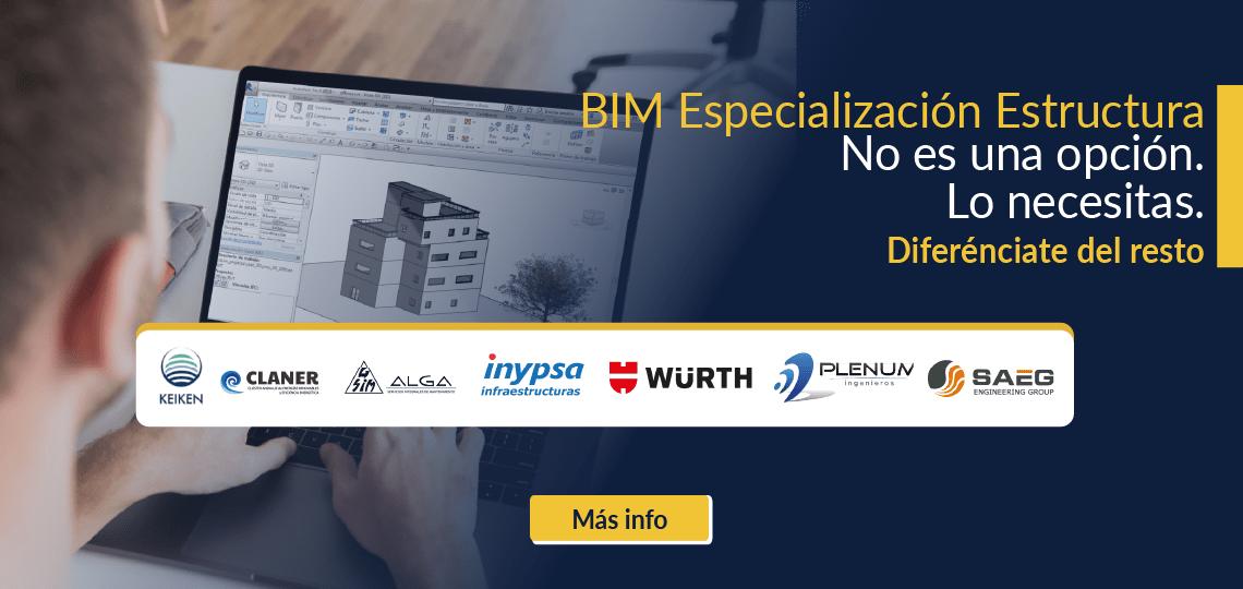 banner bim especialización estructura