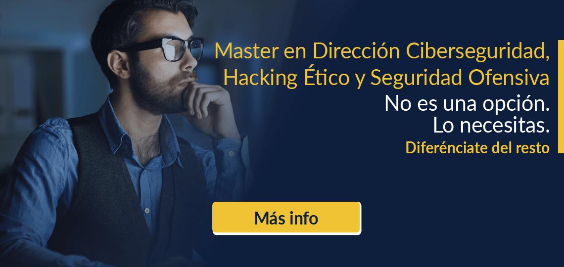 Comienza tu revolución - Master en Ciberseguridad