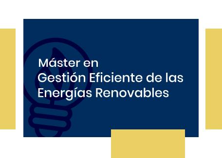 Máster Gestión eficiente de la energía