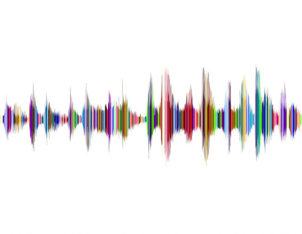 ondas de audio de un podcast