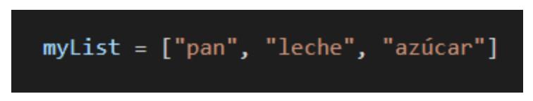 como crear una lista en python