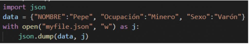 como leer y escribir un archivo json en python